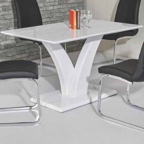 JP DT9252 Dining table120cm White  (Small) & JP CH 998 Cream Chairs From Jesse plana